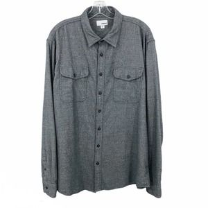 Sonoma Flannel Shirt Super Soft Gray Long Sleeve